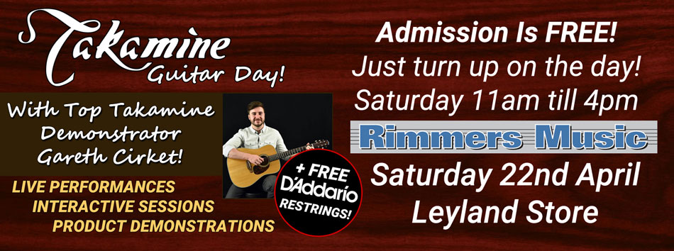 Takamine Guitar Day at Rimmers Music