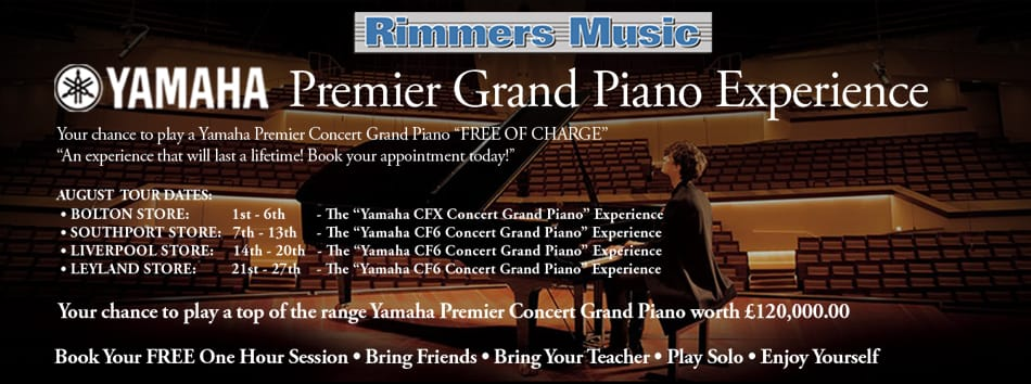 Rimmers Music Premier Yamaha Grand Piano Experience