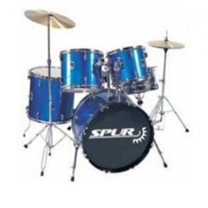 Spur  RSD1 Full Size Starter Drum Kit Metallic Blue
