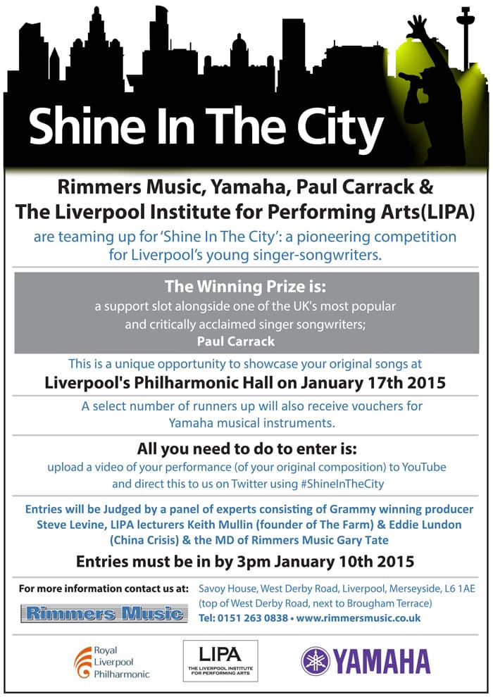 Shine In The City Poster 09-12-14 (small)