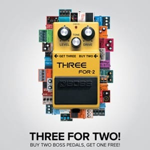 Boss 3for2 Offer at Rimmers Music
