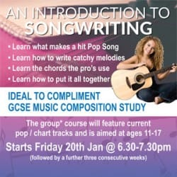 An Introduction To Songwriting at Rimmers Music Leyland