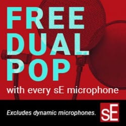 Free Dual Pop Filter with sE Microphones at Rimmers Music