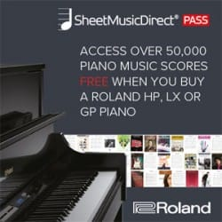 Roland Sheet Music Direct Offer at Rimmers Music