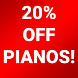 Piano 20 Percent Sale at Rimmers Music