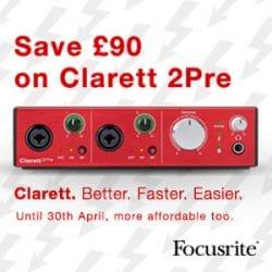 Save on Focusrite Clarett2Pre at Rimmers Music