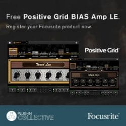 Focusrite Plug In Collective Positive Grid BIAS May Offer at Rimmers Music