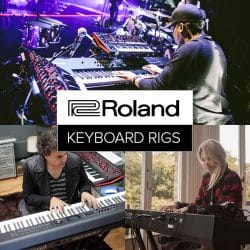 Roland Keyboard rig at Rimmer Music