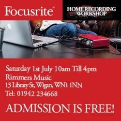 Focusrite Home Recording Day at Rimmers Music Wigan