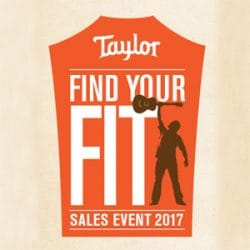 Taylor Guitars Find Your Fit at Rimmers Music Bolton