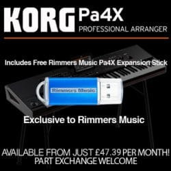 Korg Pa4X at Rimmers Music