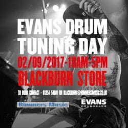 Evans Drum Skin Day at Rimmers Music Blackburn
