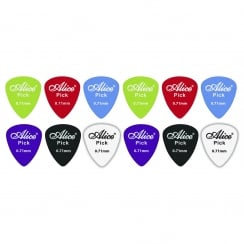 Johnny Brook 12 Assorted Matte Colour ABS Guitar Picks (Thickness (mm) 0.71)