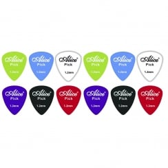 Johnny Brook 12 Assorted Matte Colour Nylon Guitar Picks (Thickness (mm) 1.2)