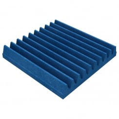 EQ Acoustics 30 X 30 X 5cm Foam Acoustic Tiles (Pack of 16) (Colour Electric Blue)