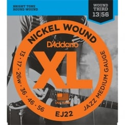 D'Addario 5 Sets EJ22 Nickel Wound Electric Guitar Strings, Jazz Medium, 13-56 | Clearance