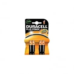 AAA Duracell Plus power - 4 Pack