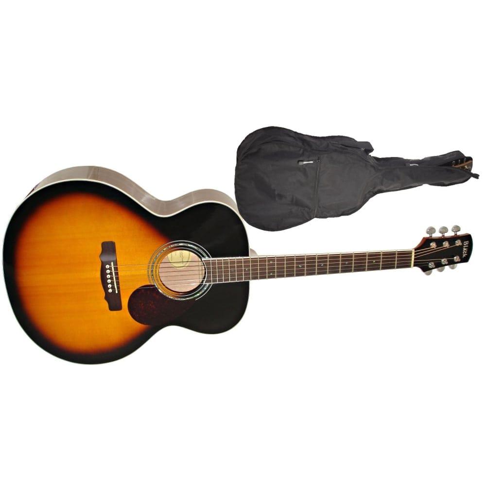Adam Black J 5 Jumbo Acoustic Guitar Vintage Sunburst Gig Bag