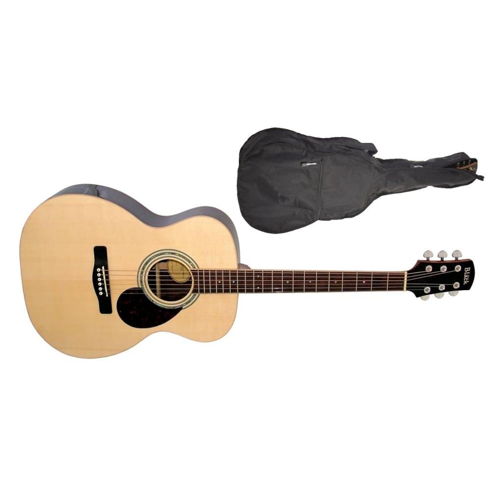 Adam Black Acoustic Guitar Natural Free Gig Bag
