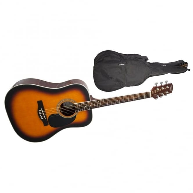 Adam Black | S-2 Folk/Orchestral Acoustic Guitar | Brown Sunburst | Free Gig Bag