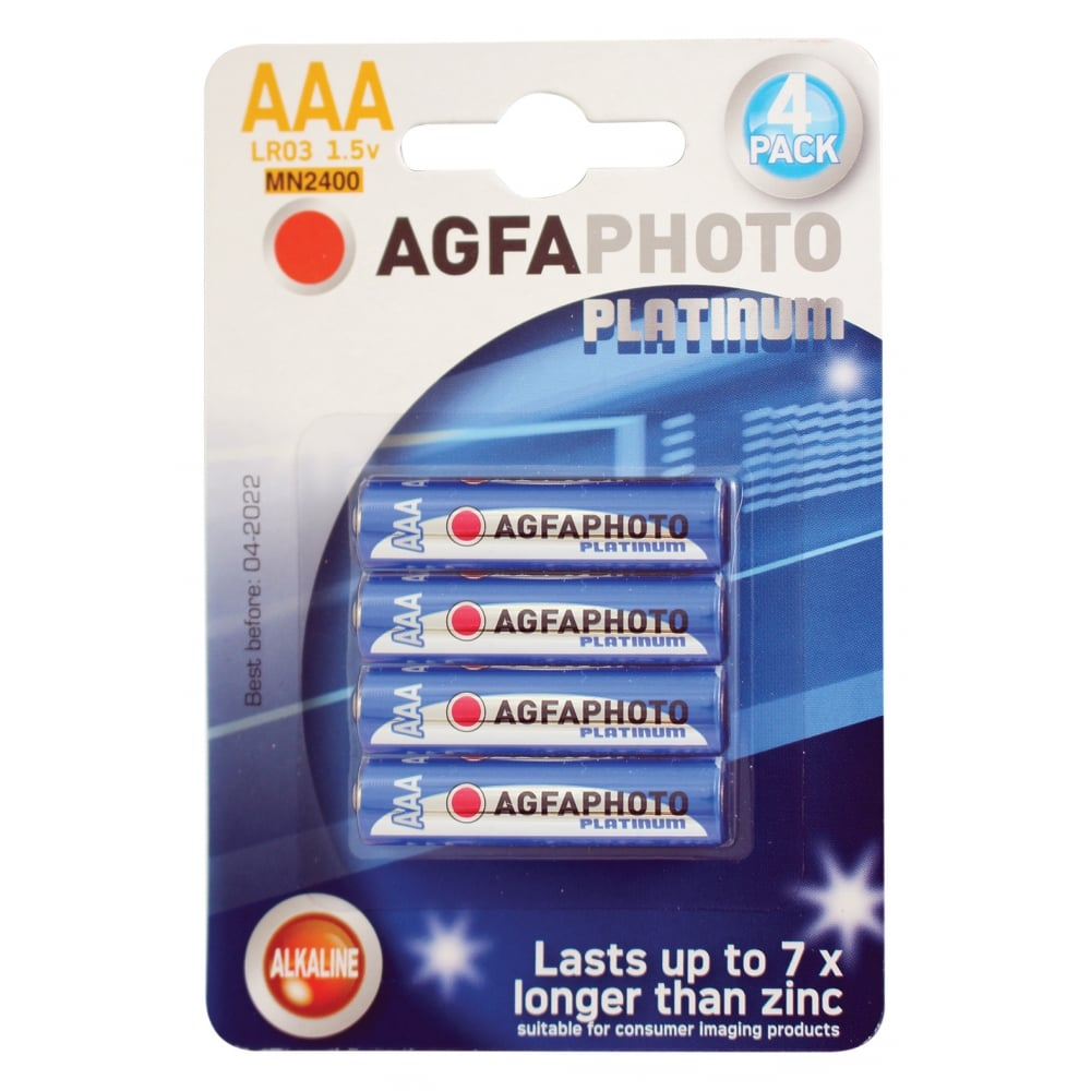 agfa photo alkaline batteries type aaa packing 4 from rimmers music. Black Bedroom Furniture Sets. Home Design Ideas
