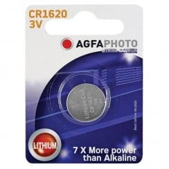 AGFA Lithium Button Cells Blister of 1 (Type CR1620)