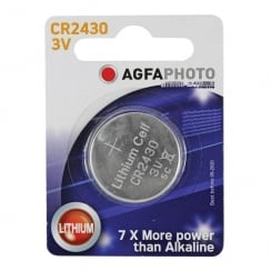 AGFA Lithium Button Cells Blister of 1 (Type CR2430)