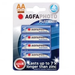 AGFA PHOTO Alkaline Batteries (Type AA Packing 4)