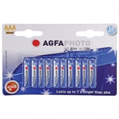 AGFA PHOTO Alkaline Batteries (Type AAA Packing 10)