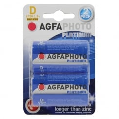 AGFA PHOTO Alkaline Batteries (Type D Packing 2)