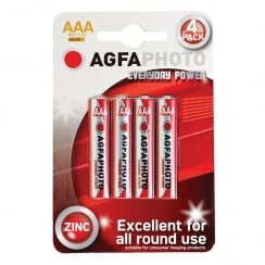 AGFA PHOTO Zinc Chloride Battery (Type AAA Quantity 4)