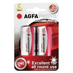 AGFA PHOTO Zinc Chloride Battery (Type C Quantity 2)