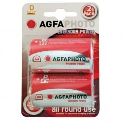 AGFA PHOTO Zinc Chloride Battery (Type D Quantity 2)