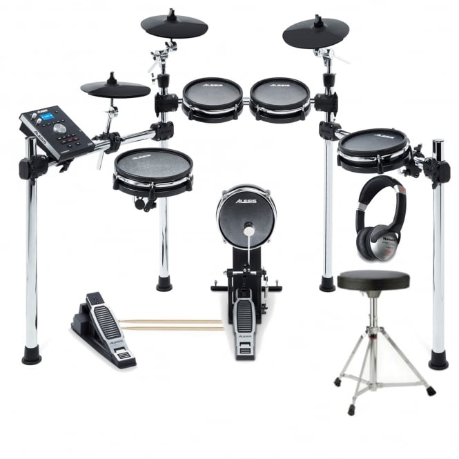 alesis command mesh kit 8 piece electronic drum kit with mesh heads package. Black Bedroom Furniture Sets. Home Design Ideas