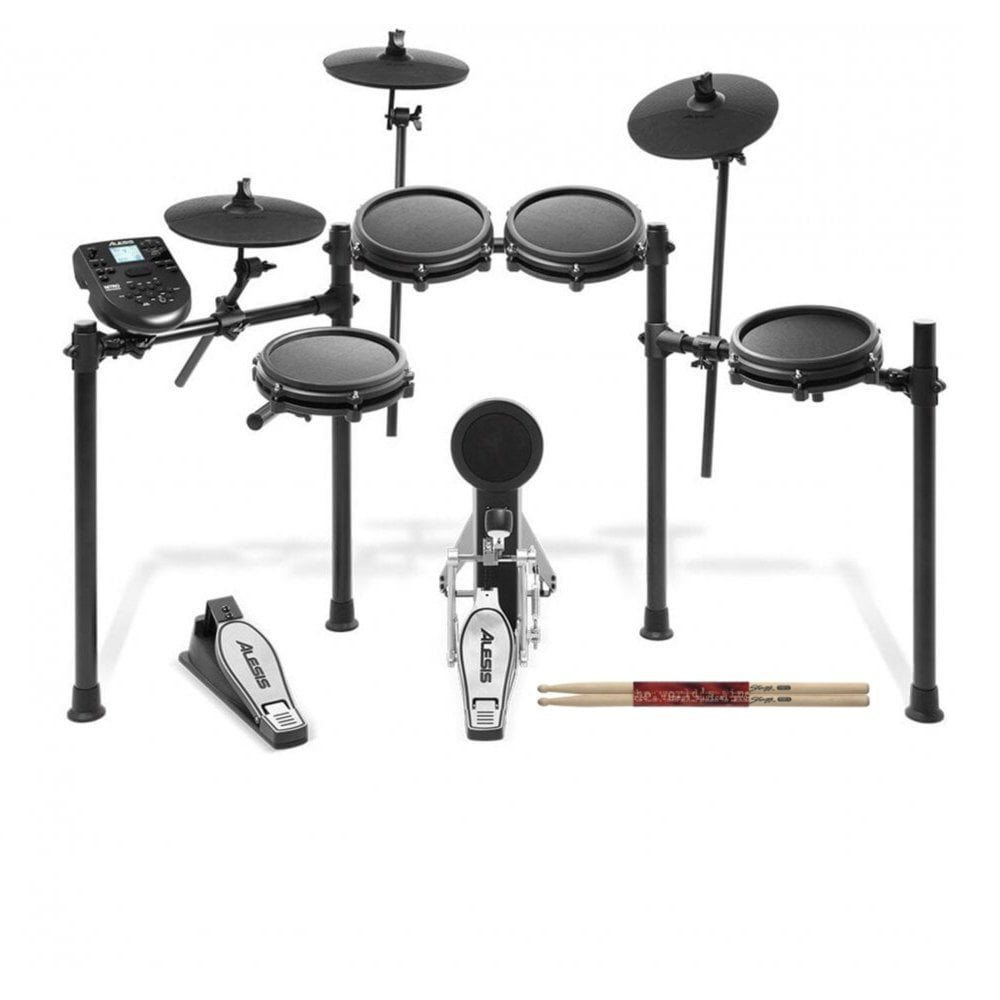 954621e54738 Alesis Nitro Mesh Eight Piece Electronic Drum Kit With Mesh Heads