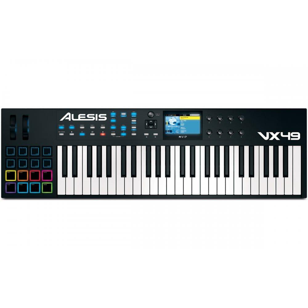 Alesis V49 Renewed 8 Pads // 4 Knobs // 4 Buttons 49-Key USB MIDI Keyboard /& Drum Pad Controller