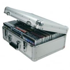 Citronic Aluminium CD flight case, 80 CDs.