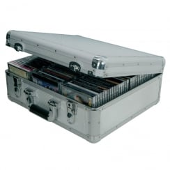 Citronic Aluminium CD flight case, 96 CDs