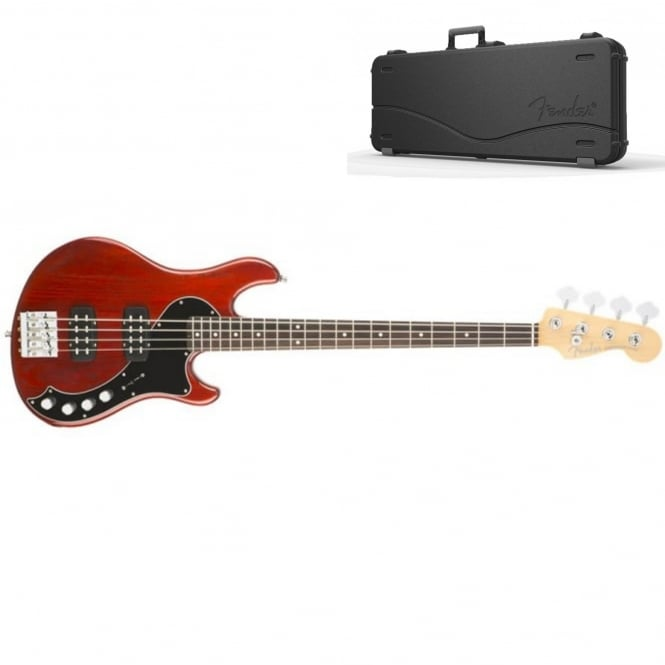 American Elite Dimension Bass IV HH | Rosewood Fingerboard | Cayenne Burst | Includes Case