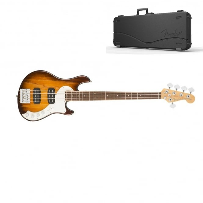 American Elite Dimension Bass V HH | Rosewood Fingerboard | Violin Burst | Includes Case