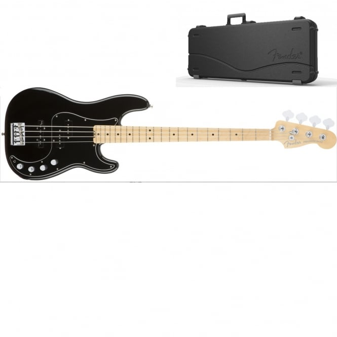 American Elite Precision Bass | Maple Fingerboard | Black | Includes Case