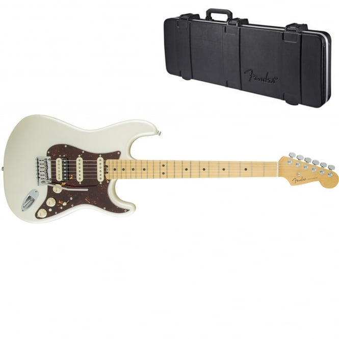 American Elite Stratocaster HSS Shawbucker | Maple Fingerboard | Olympic Pearl | Includes Case