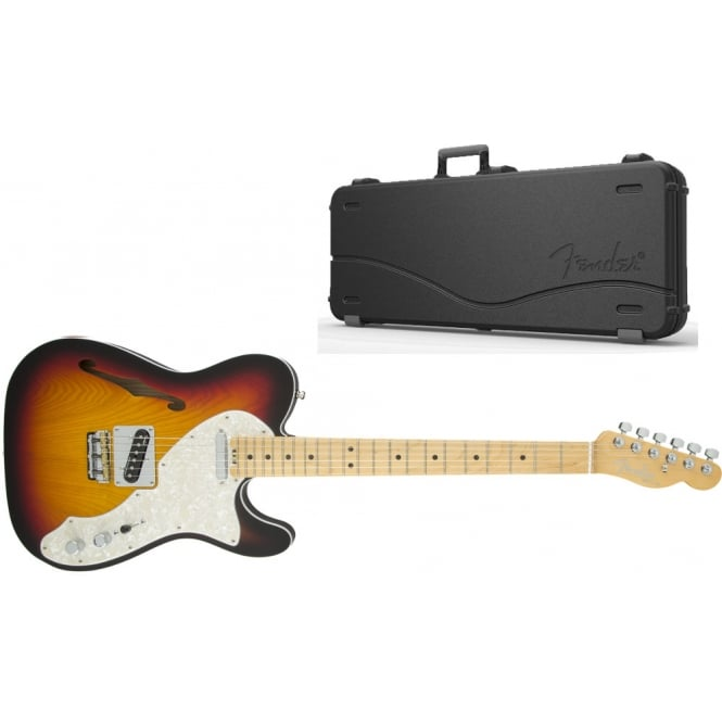 American Elite Telecaster Thinline | Maple Fingerboard | 3-Color Sunburst