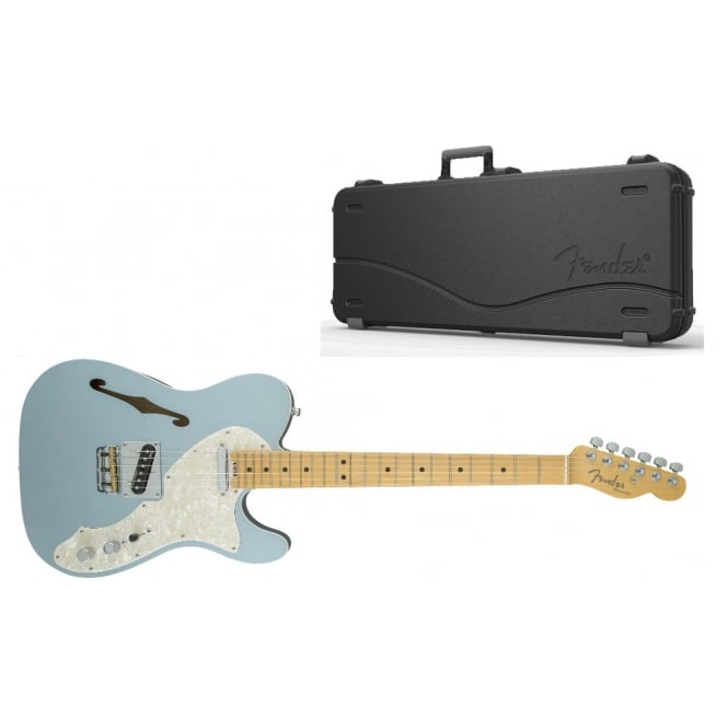 American Elite Telecaster Thinline | Maple Fingerboard | Mystic Ice Blue