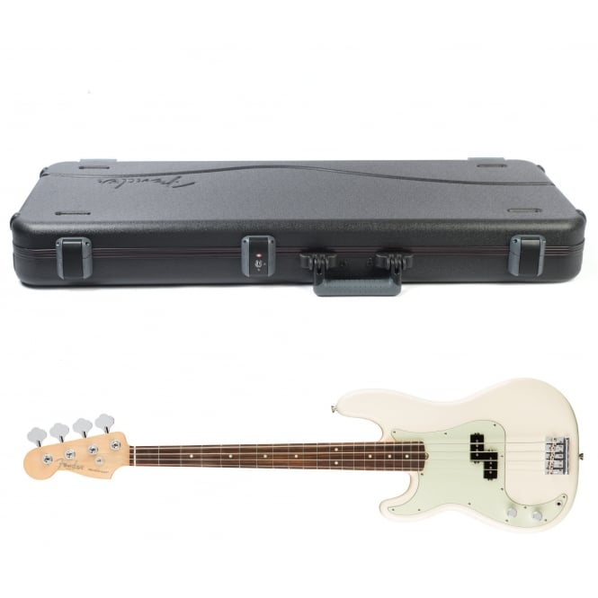 American Pro Precision Bass | Left Handed | Rosewood Fingerboard | Olympic White