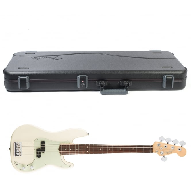 American Pro Precision Bass V | Rosewood Fingerboard | Olympic White