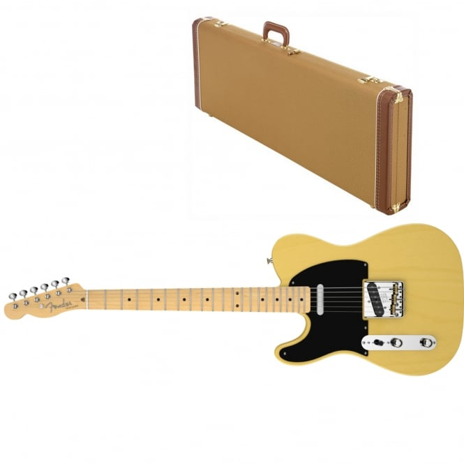 American Vintage '52 Telecaster Left-Handed | Maple Fingerboard | Butterscotch Blonde | Includes Case