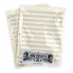 D'Addario Archives Looseleaf Manuscript Paper , 12 Stave, 50 Pages