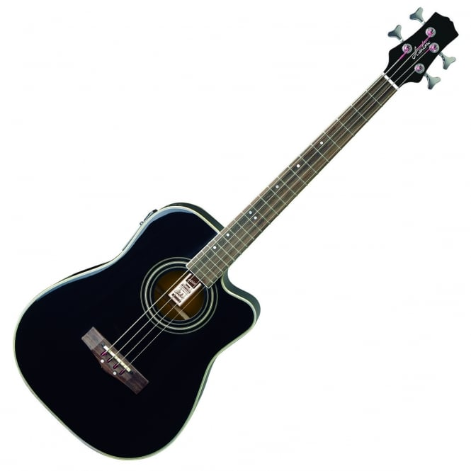 Ashton ACB100CEQ BK Acoustic Bass Guitar | Black