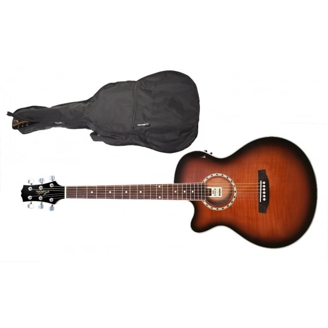 Ashton SL29CEQL Left-Handed Small Bodied Acoustic Guitar